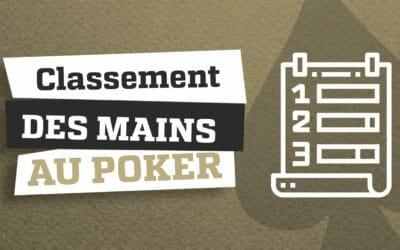 Classement des mains au poker