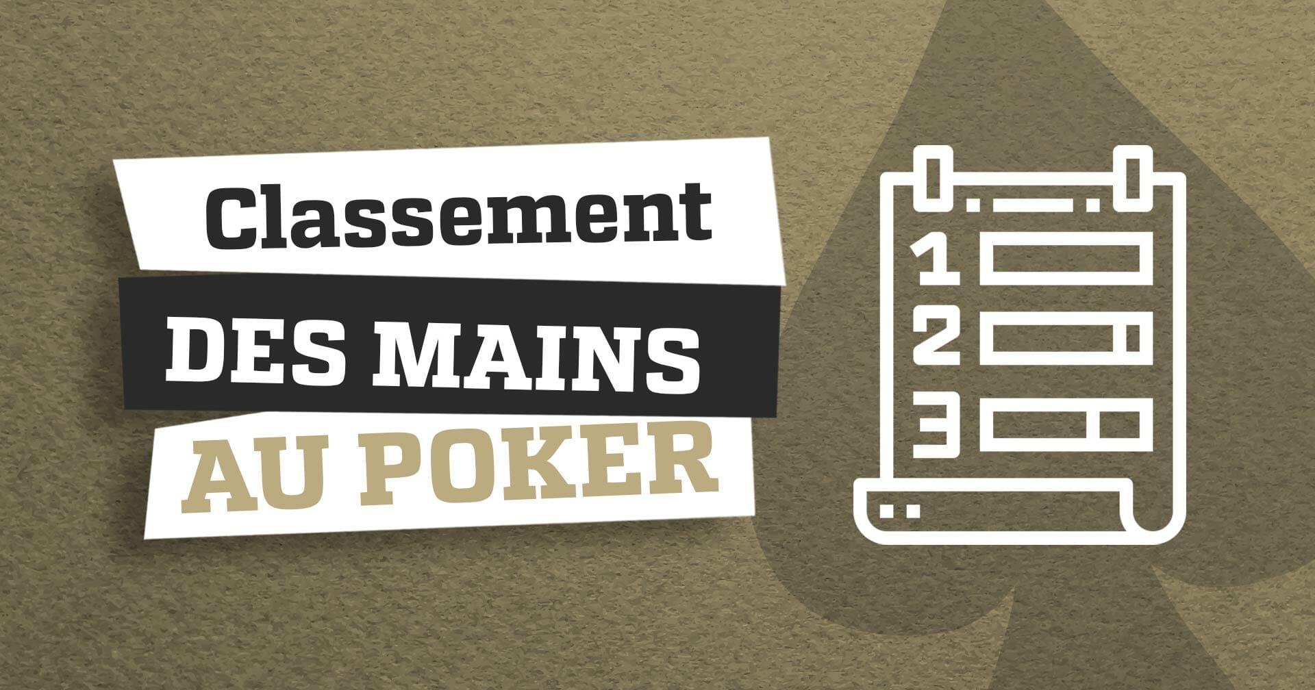 classement mains poker