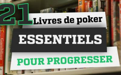 21 livres de poker essentiels pour progresser en 2021