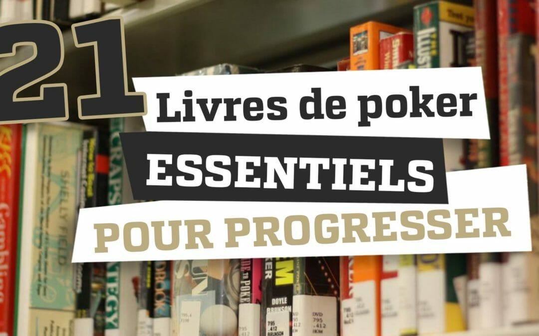 21 livres de poker essentiels pour progresser en 2019
