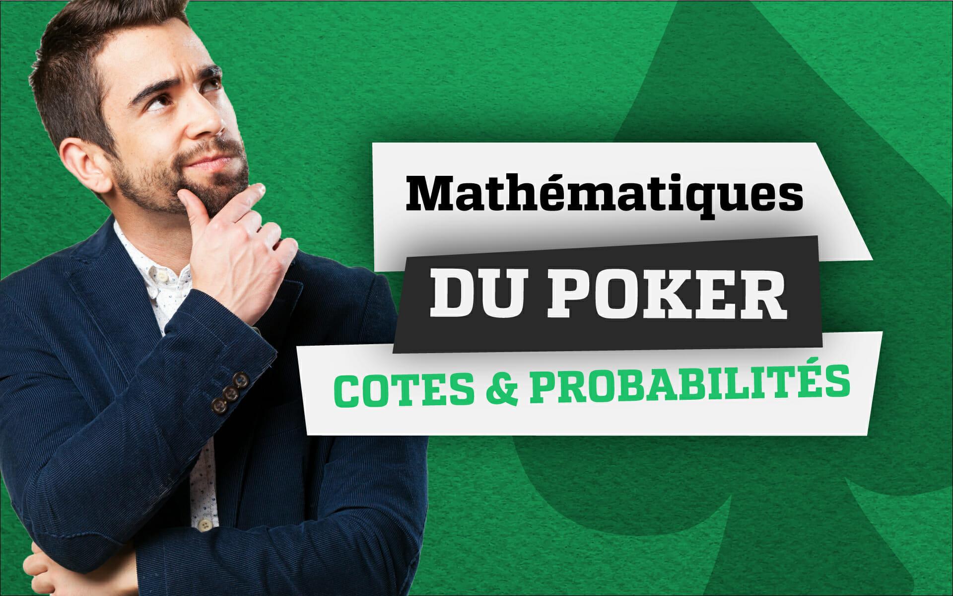 mathématiques du poker cotes probabilités